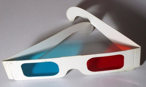 Anaglyph 3D glasses - red and cyan